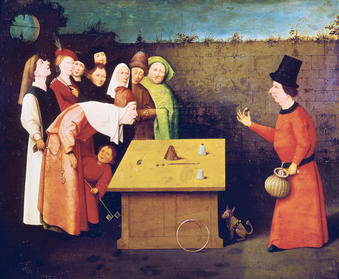 The Conjurer, by Hieronymus Bosch, 1501. Musée Municipal, St.-Germain-en-Laye, France.