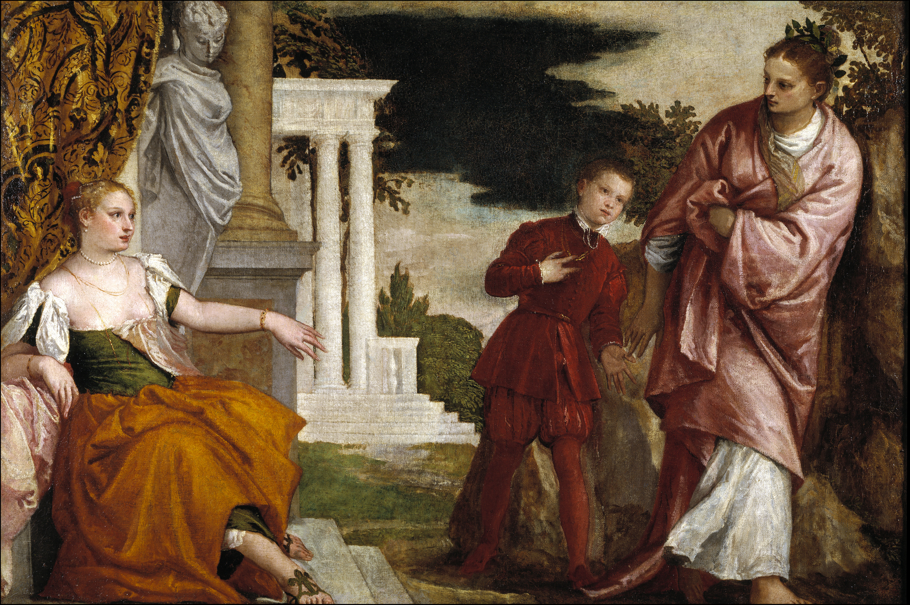 Youth Between Vice and Virtue, by Paolo Veronese, c. 1581. Prado Museum, Madrid, Spain.