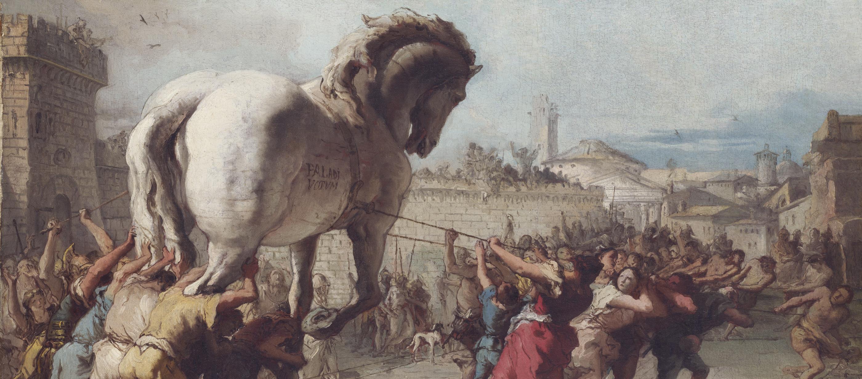 The Procession of the Trojan Horse into Troy, by Giovanni Domenico Tiepolo, c. 1760.