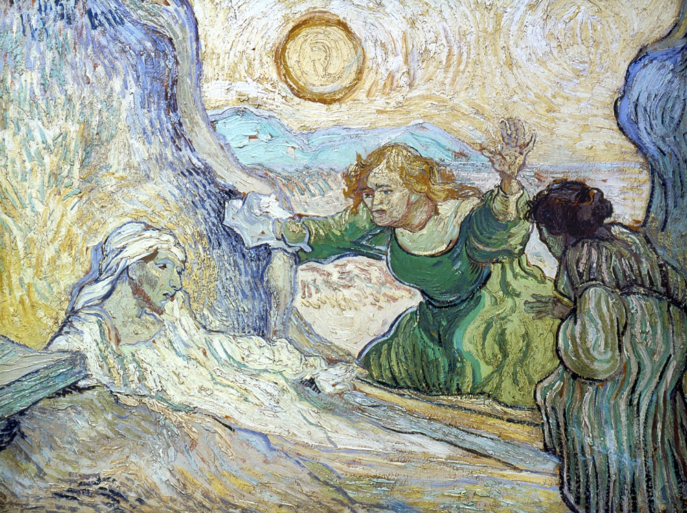 The Raising of Lazarus (After Rembrandt), by Vincent van Gogh, 1890.