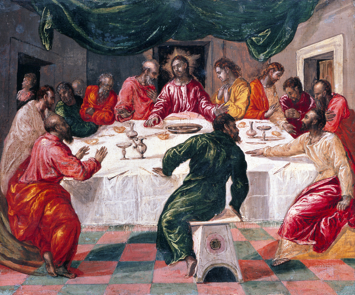 Last Supper, by El Greco, c. 1567-70. National Art Gallery of Bologna, Italy.