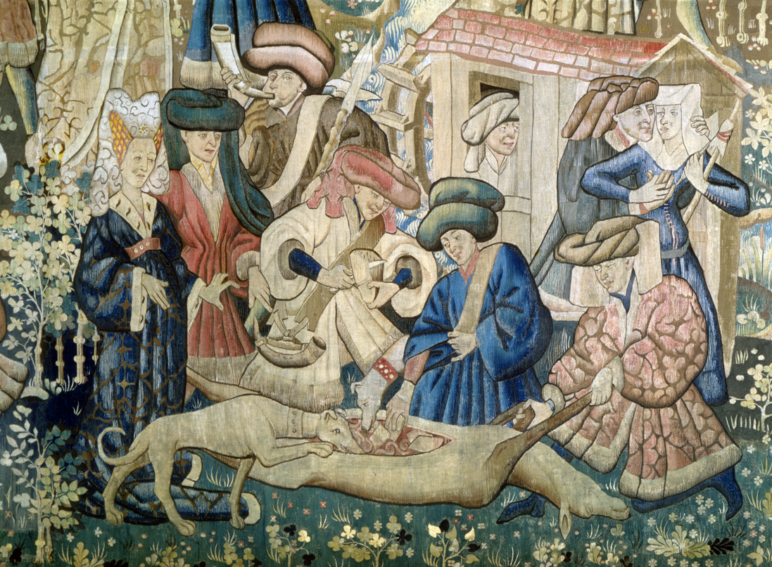 Deer hunt, from the Devonshire Hunting Tapestries, Netherlands, c. 1445. Victoria and Albert Museum, London.