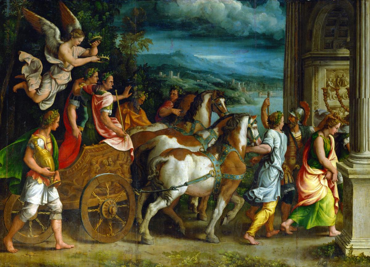 Triumph of Titus and Vespasian, by Giulio Romano, c. 1537. Louvre Museum, Paris.