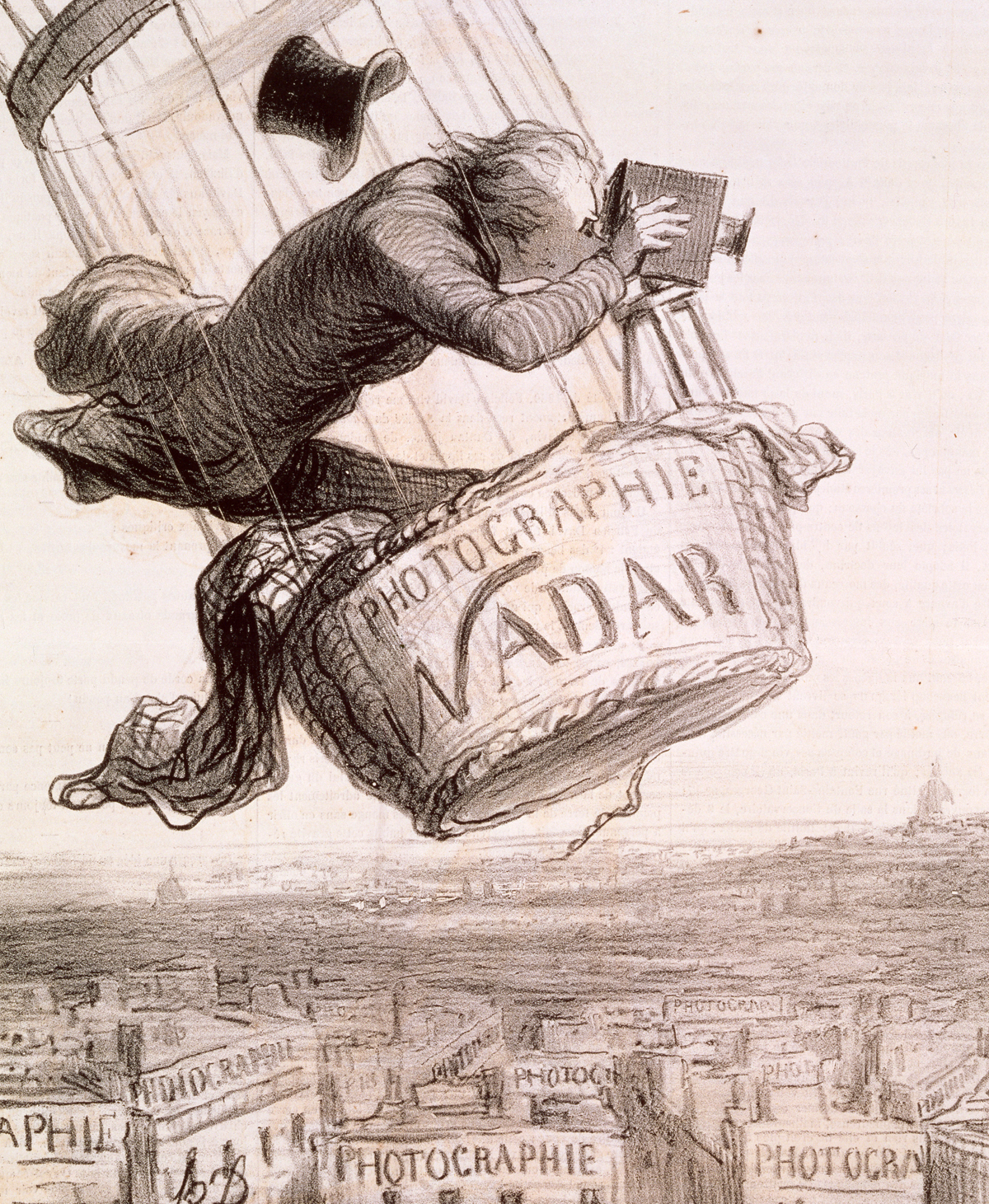 Nadar, Raising Photography to the Height of Art, by Honoré Daumier, 1862.