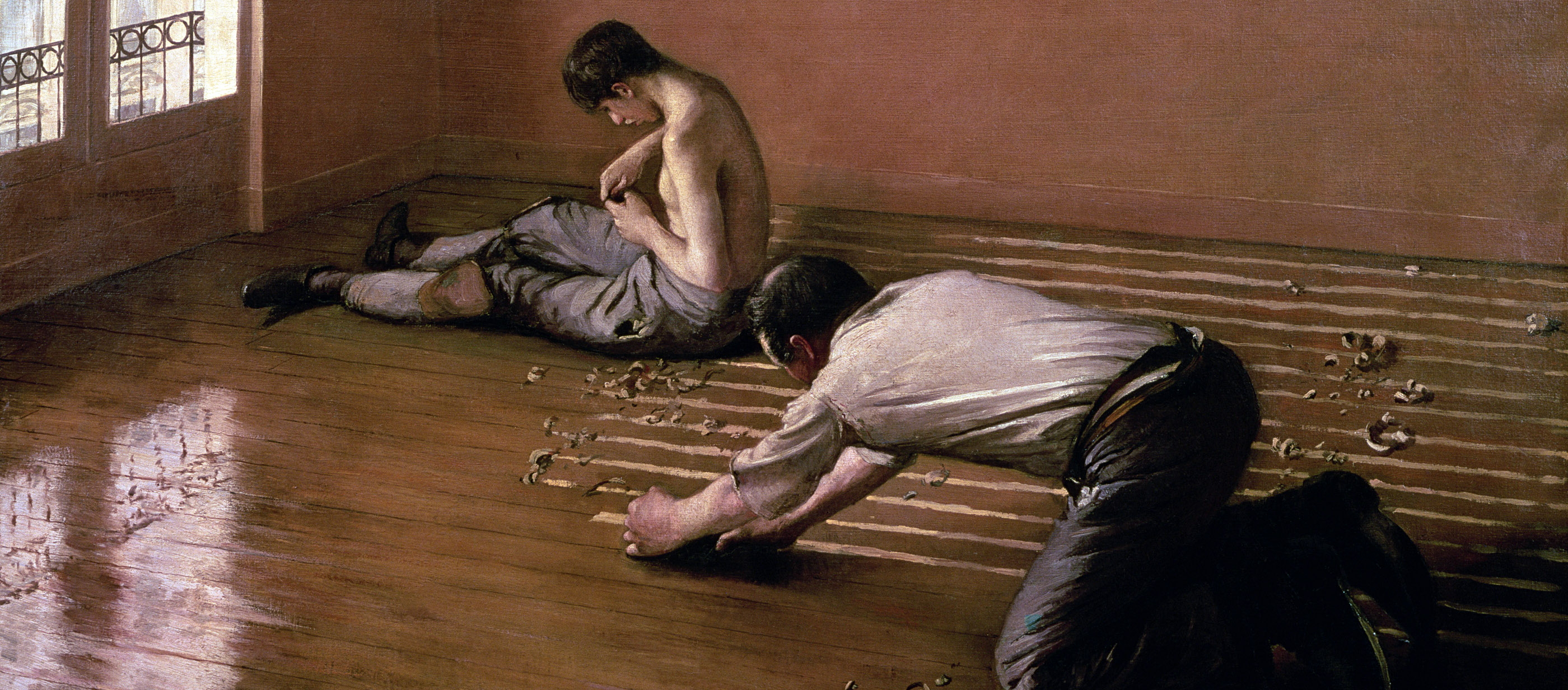 The Floor Scrapers, by Gustave Caillebotte, 1876. Private Collection.