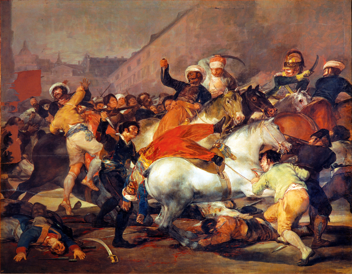 The Second of May, 1808: The Charge of the Mamelukes, by Francisco de Goya y Lucientes, 1814. Prado Museum, Madrid.