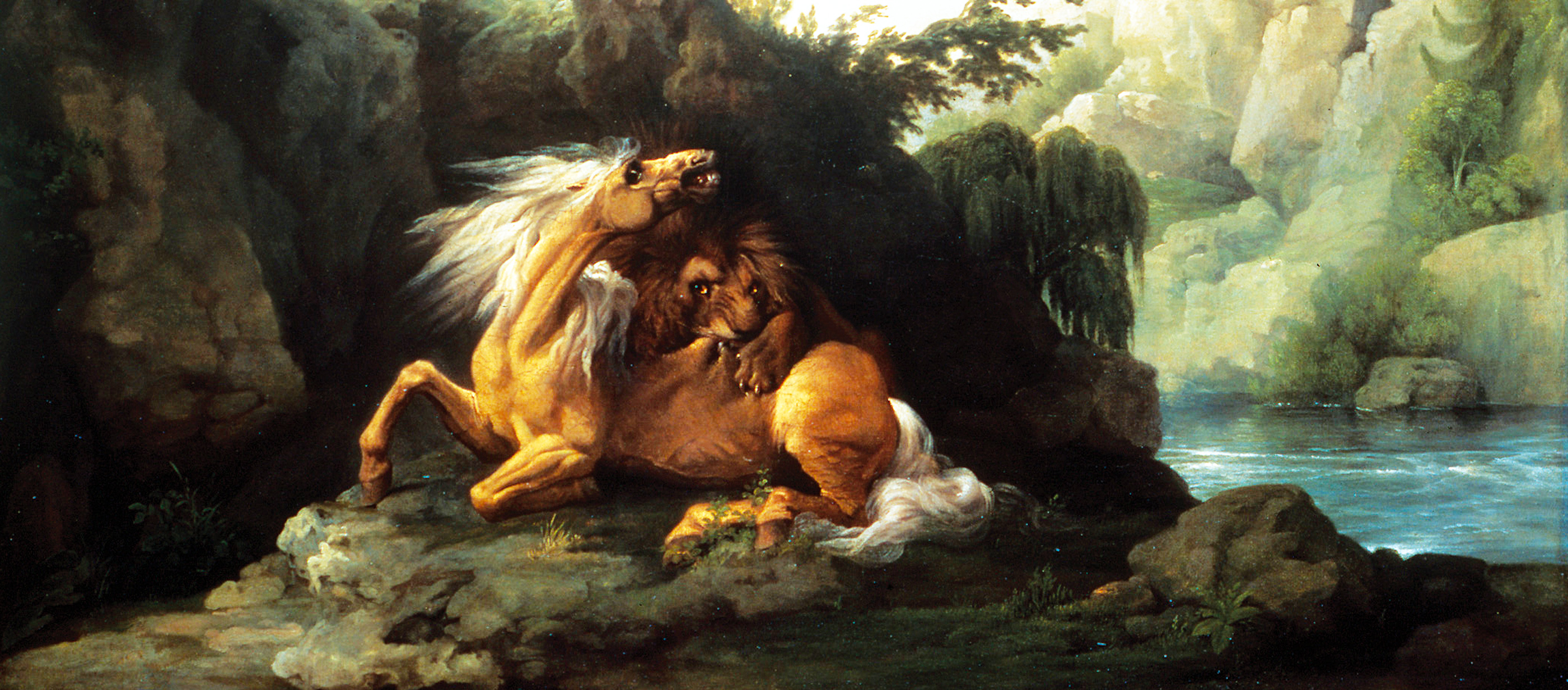 Horse Devoured by a Lion (detail), by George Stubbs, 1763. Tate Britain, London, England.