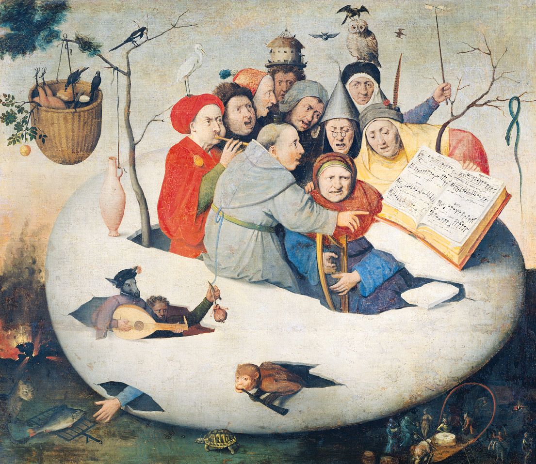 Concert in the Egg, attributed to Hieronymus Bosch, sixteenth century. Palais des Beaux-Arts de Lille, Lille, France.