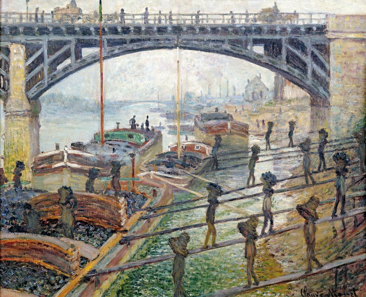 Men Unloading Coal, by Claude Monet, c. 1875. Musée d'Orsay, Paris.