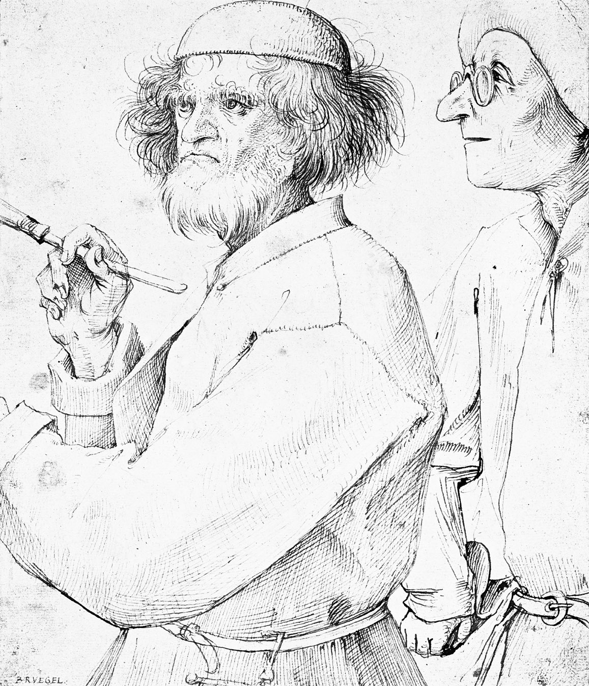 Painter and his Patron, by Pieter Brueghel the Elder, c. 1565. The Albertina, Vienna, Austria.