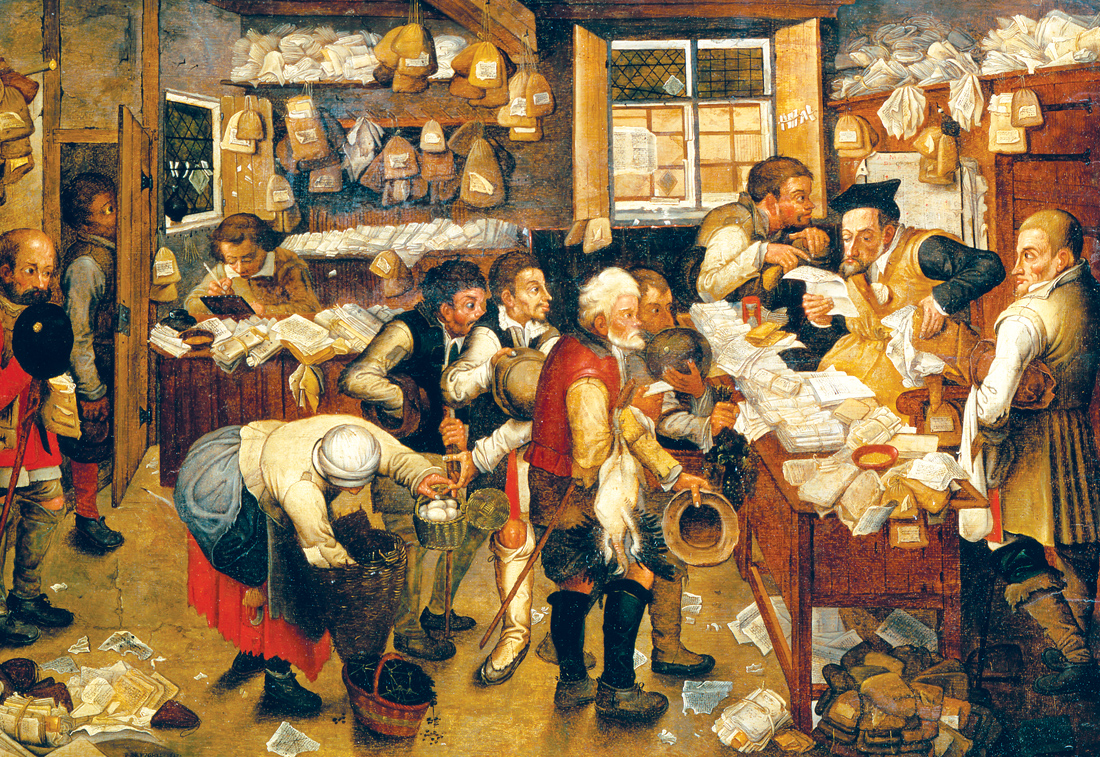The Tax Collector, by Pieter Brueghel the Younger, c. 1615. Art Gallery of South Australia, Adelaide.