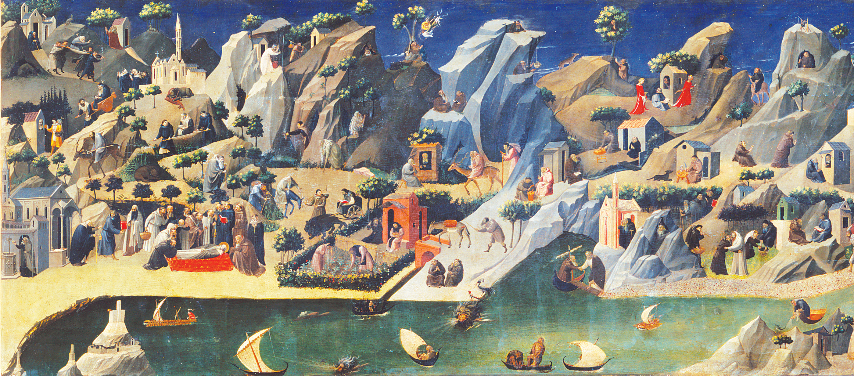 The Thebaide, by Fra Angelico, c. 1420. Uffizi Gallery, Florence, Italy.