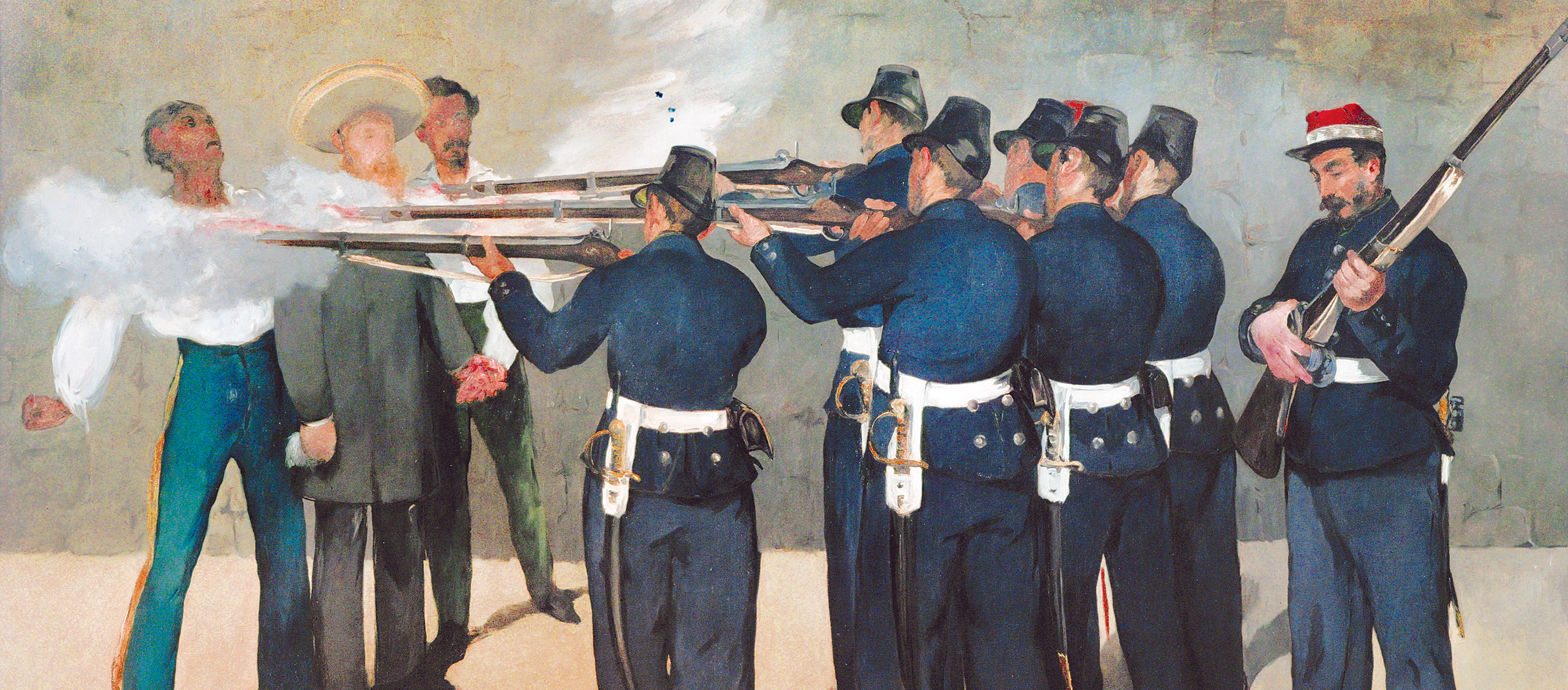 The Execution of Maximilian, by Édouard Manet, 1868–1869. Kunsthalle Mannheim, Germany.