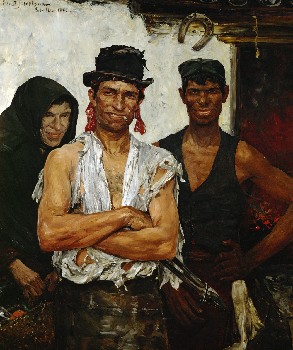 Spanish Blacksmiths, II, by Ernst Josephson, 1882. National Museum of Art, Architecture and Design, Oslo, Norway.