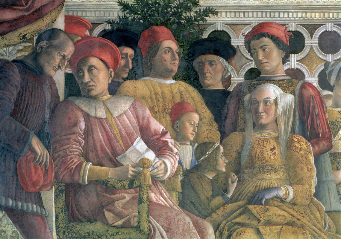 The Family and Court of Ludovico Gonzaga (detail), by Andrea Mantegna, c. 1470..