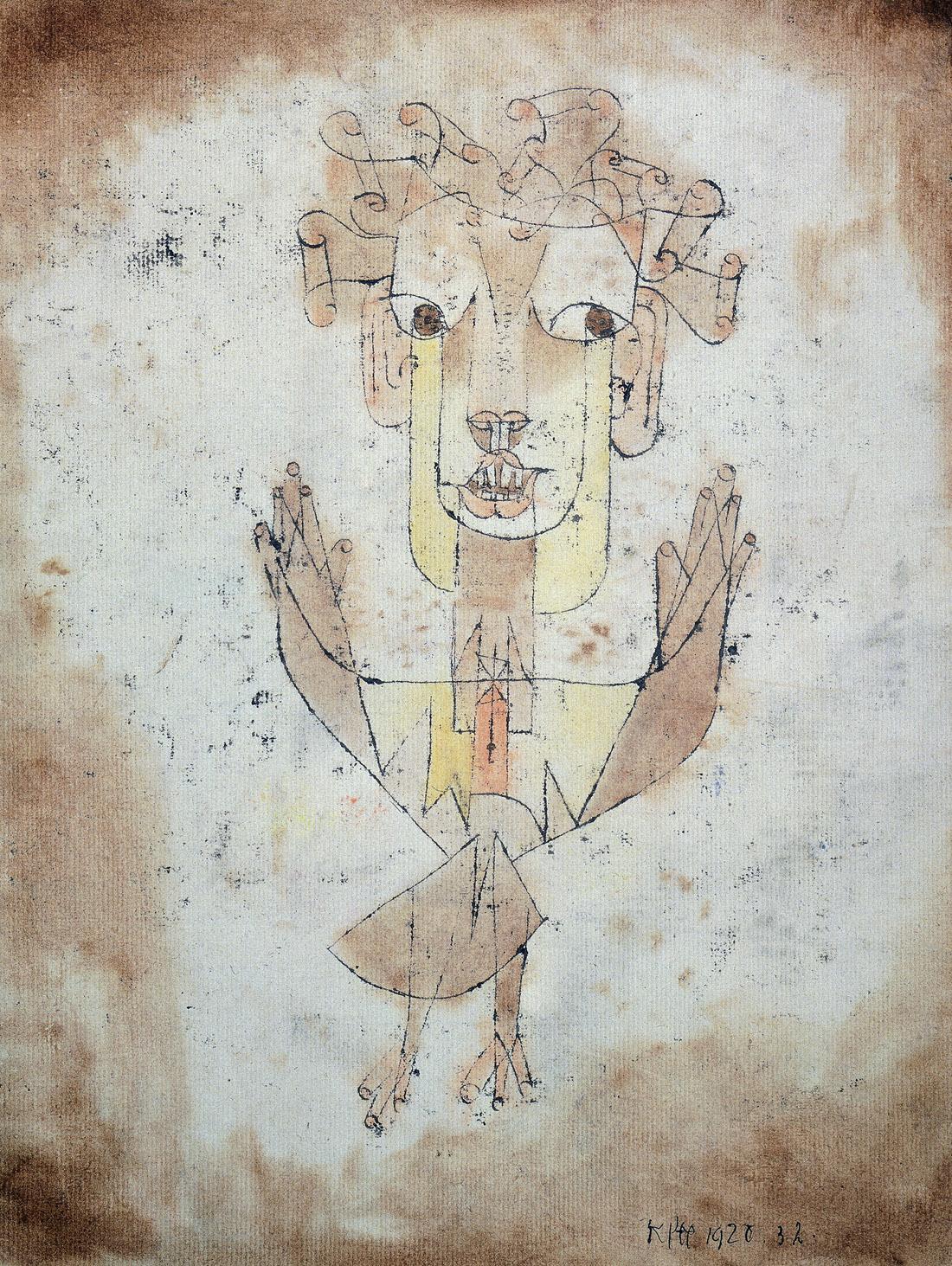 Angelus Novus, by Paul Klee, 1920. Israel Museum, Jerusalem.