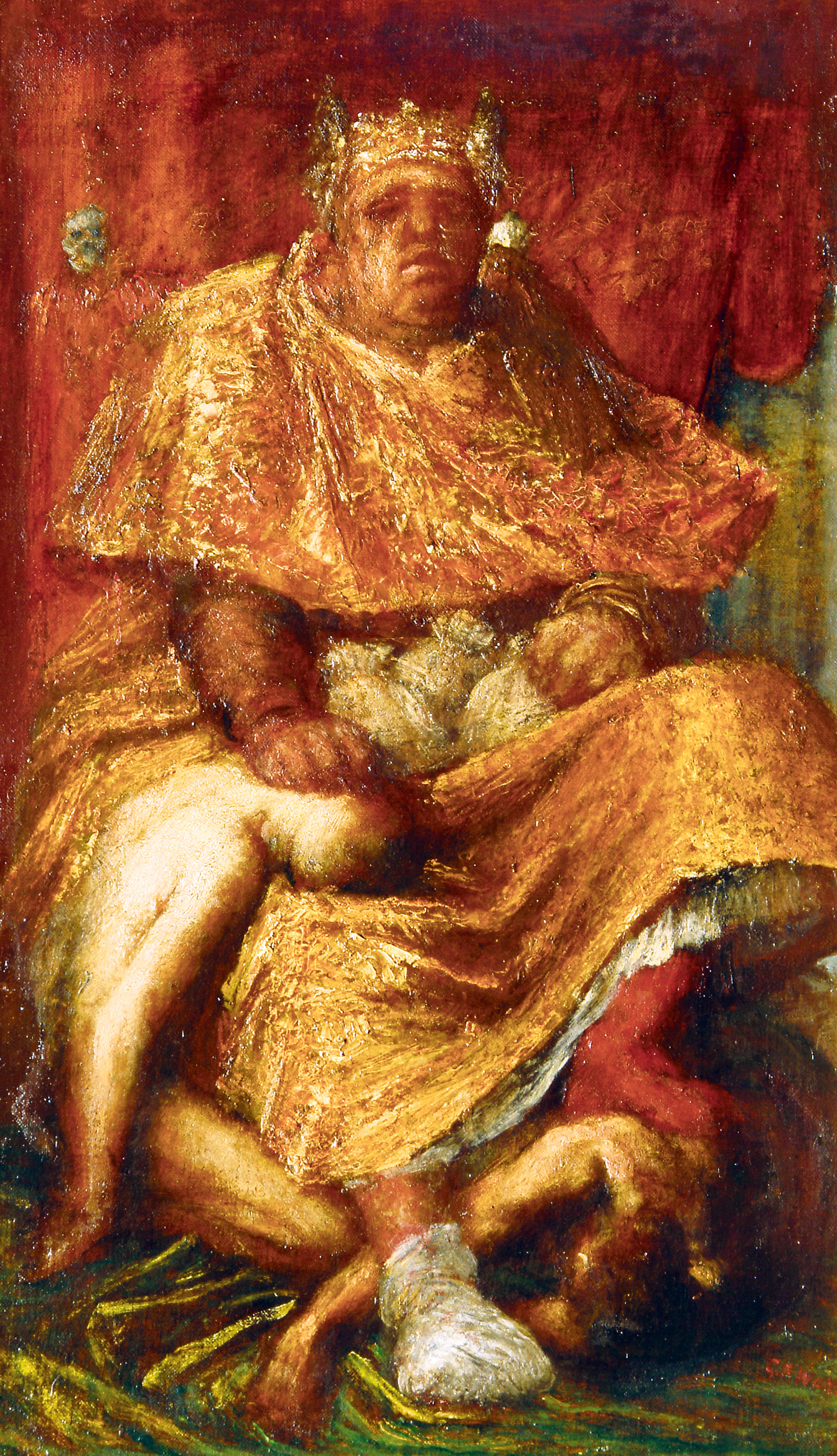 Mammon, by George Frederick Watts, 1885. Tate Gallery, London, United Kingdom.