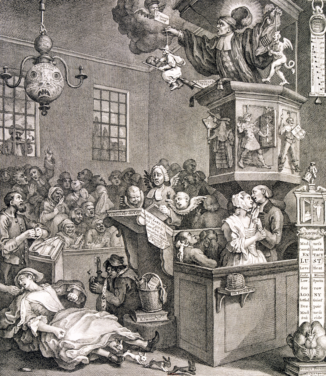 Credulity, Superstition, and Fanaticism, by William Hogarth, 1762.
