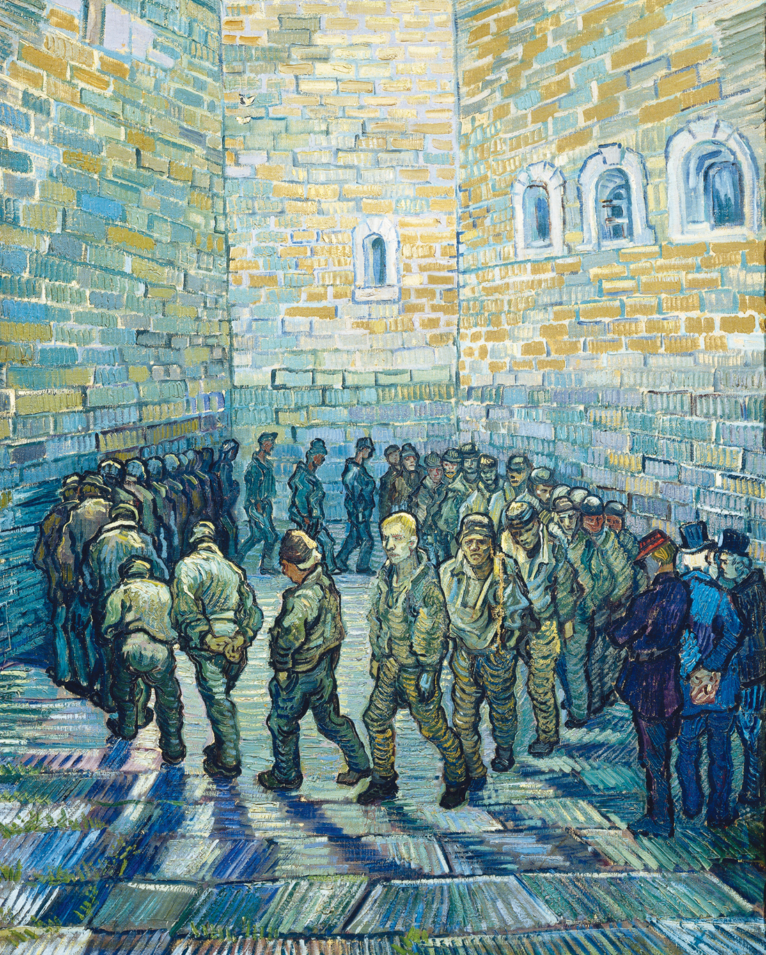 Prison Courtyard, by Vincent van Gogh, 1890. The Pushkin Museum of Fine Art, Moscow, Russia.