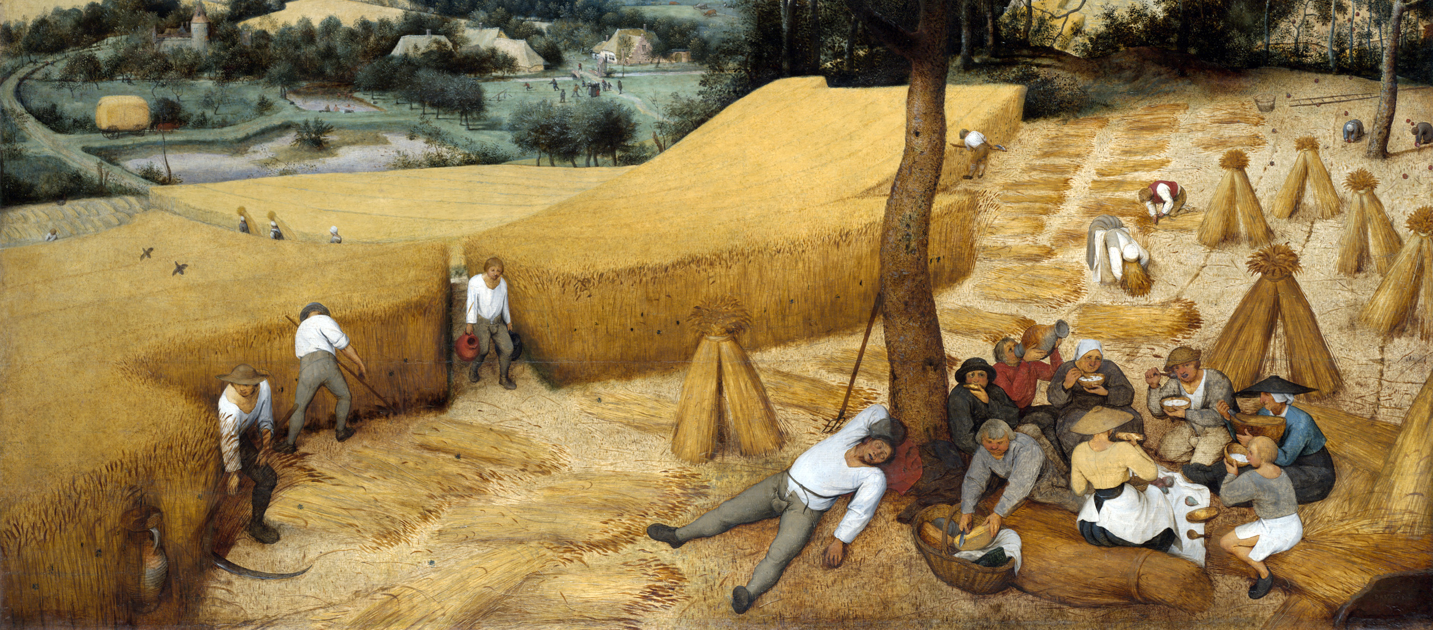 The Harvesters, by Pieter Bruegel the Elder, 1565. The Metropolitan Museum of Art, Rogers Fund, 1919