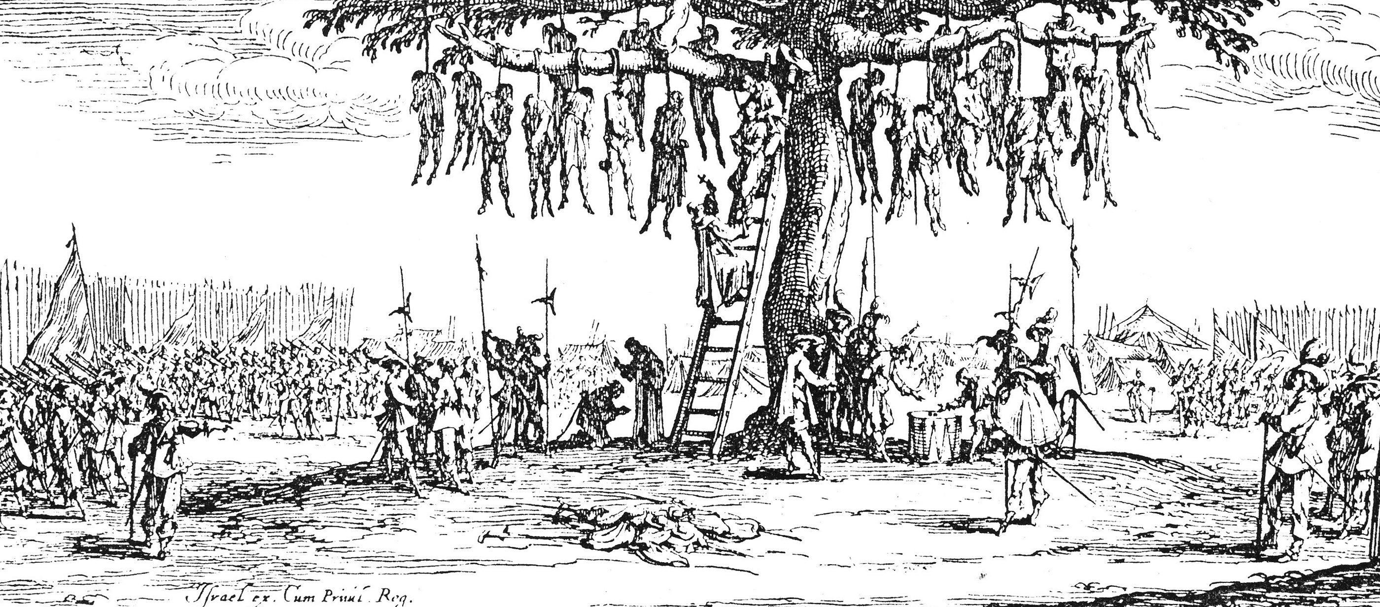 The Hanging, from The Miseries of War, by Jacques Callot, 1633.