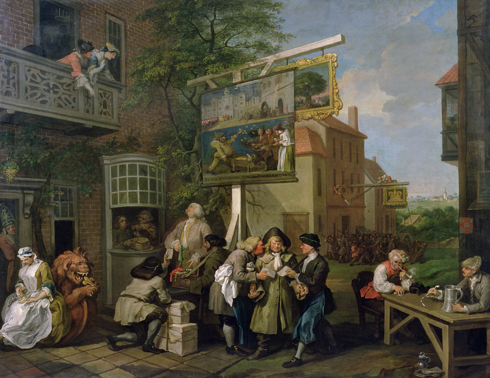 An Election: Canvassing for Votes, by William Hogarth.