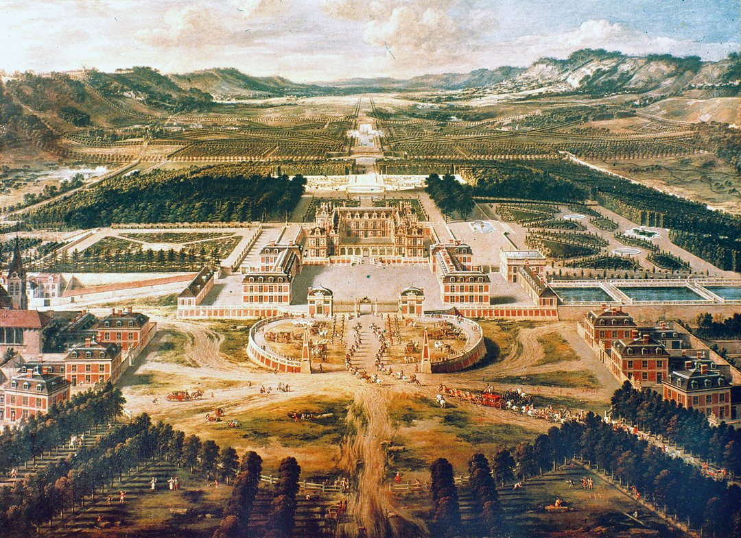 Versailles, France, by Pierre Patel, 1668.