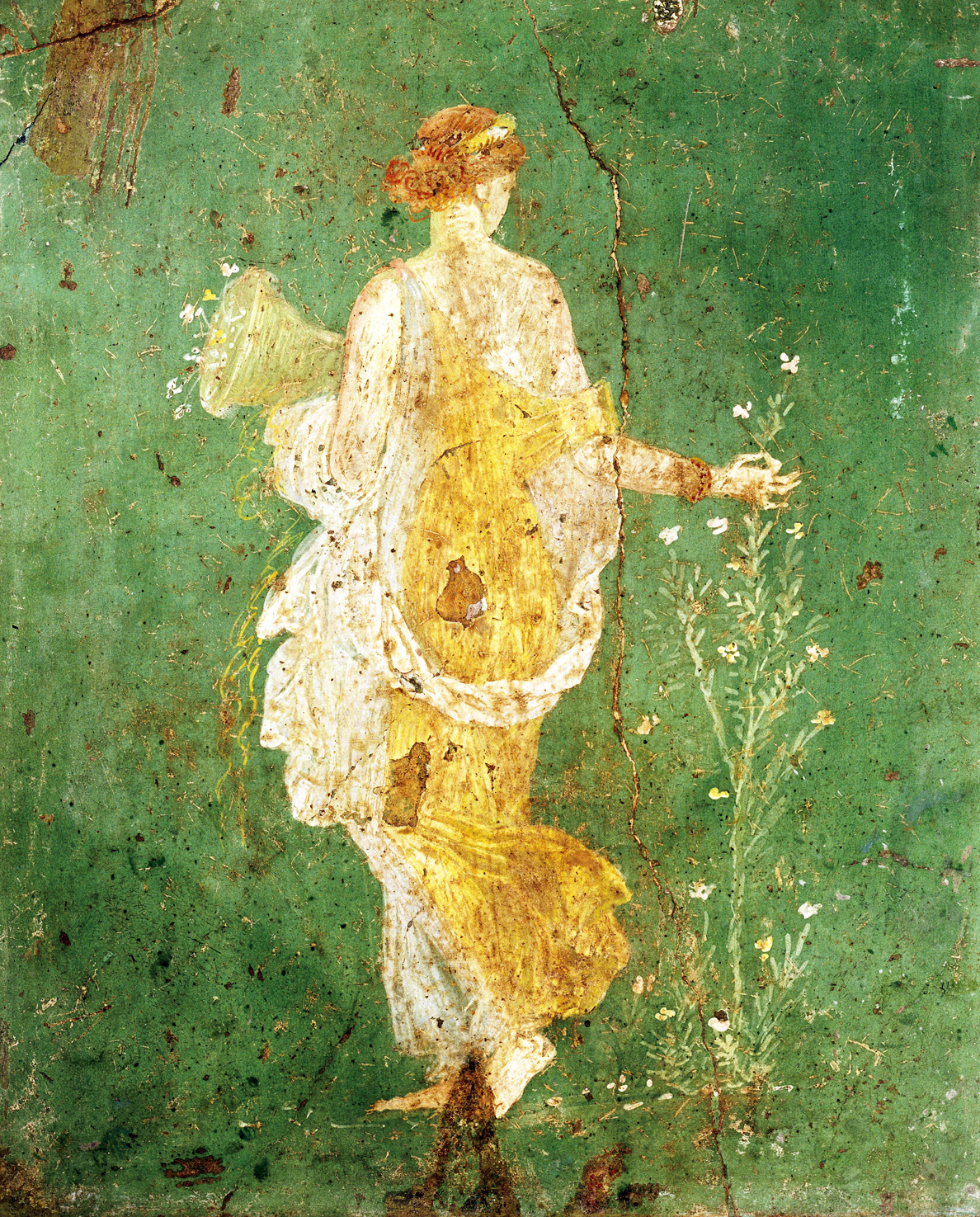Flora, goddess of spring, fresco from the Villa di Arianna, first century. Naples National Archaeological Museum, Naples, Italy.