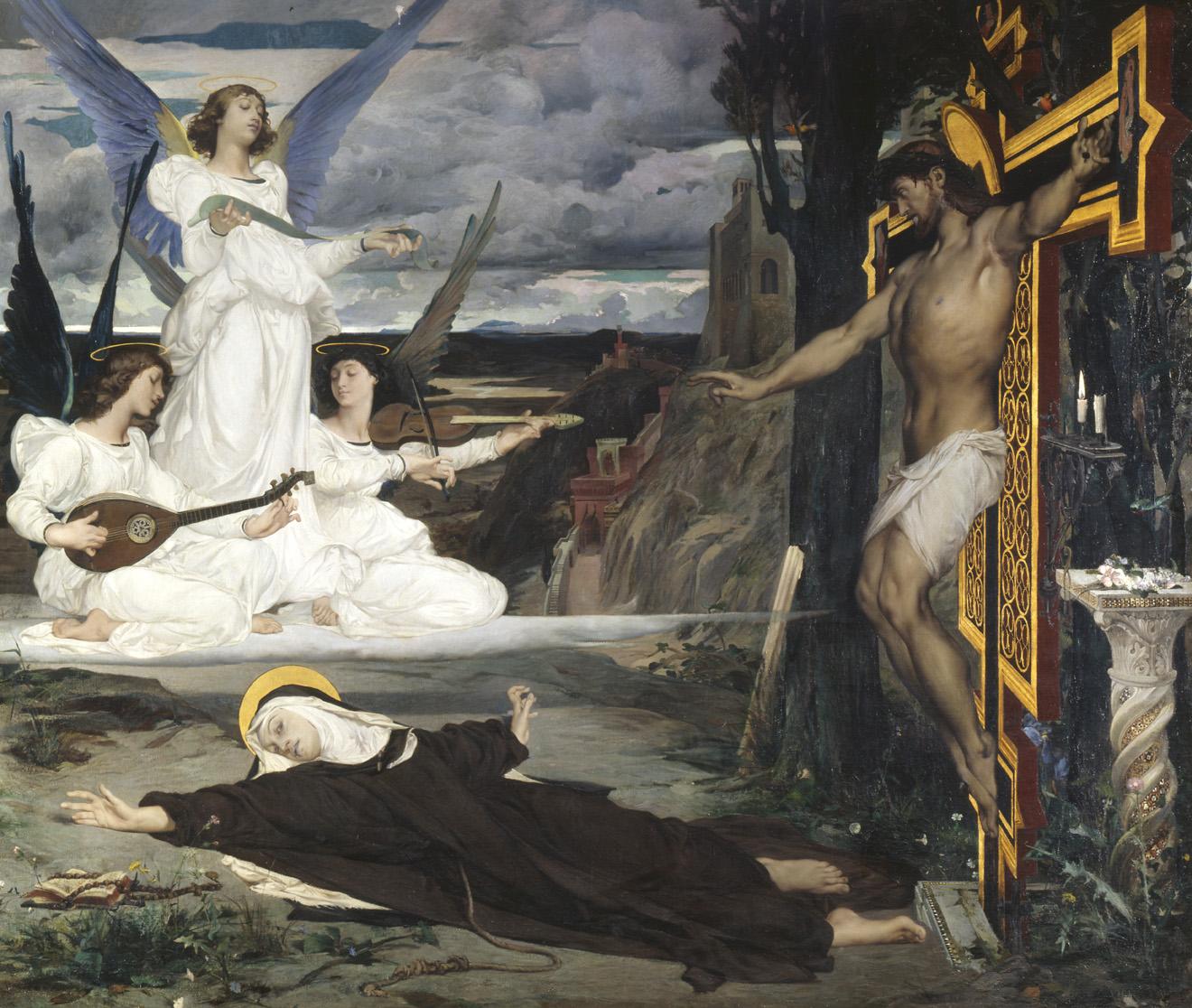 The Vision Legend of the Fourteenth Century, by Luc Olivier Merson, c. 1872. Palais des Beaux-Arts de Lille, France.