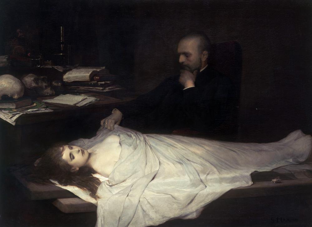 The Anatomist, by Gabriel Cornelius von Max, 1869.
