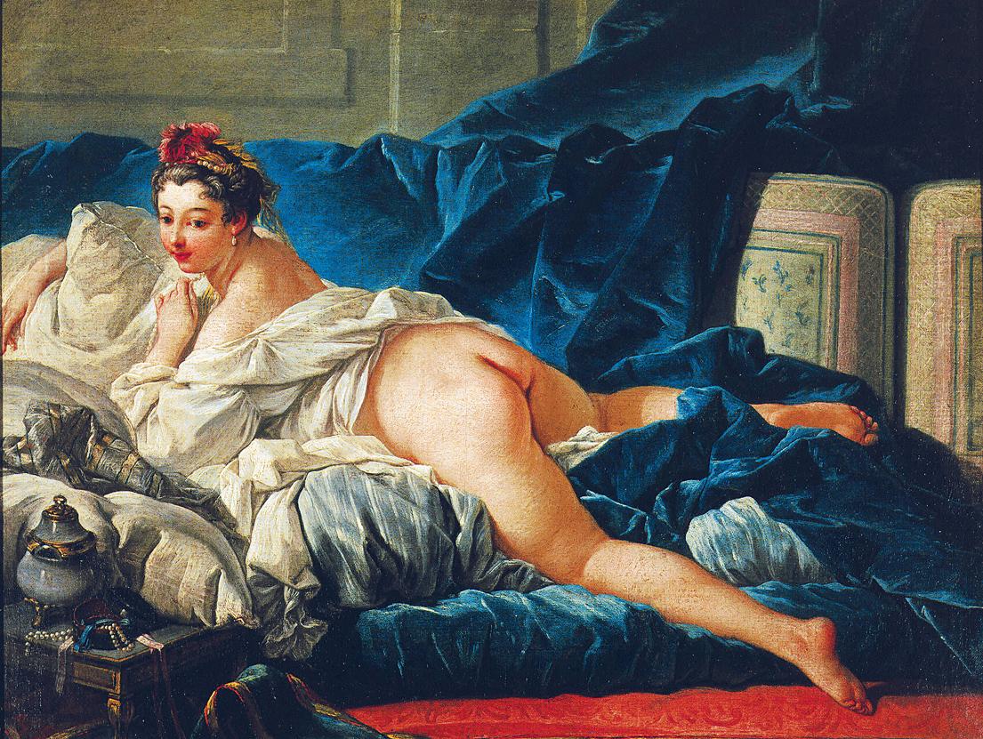 L'Odalisque, by François Boucher, c. 1745. Louvre Museum, Paris, France