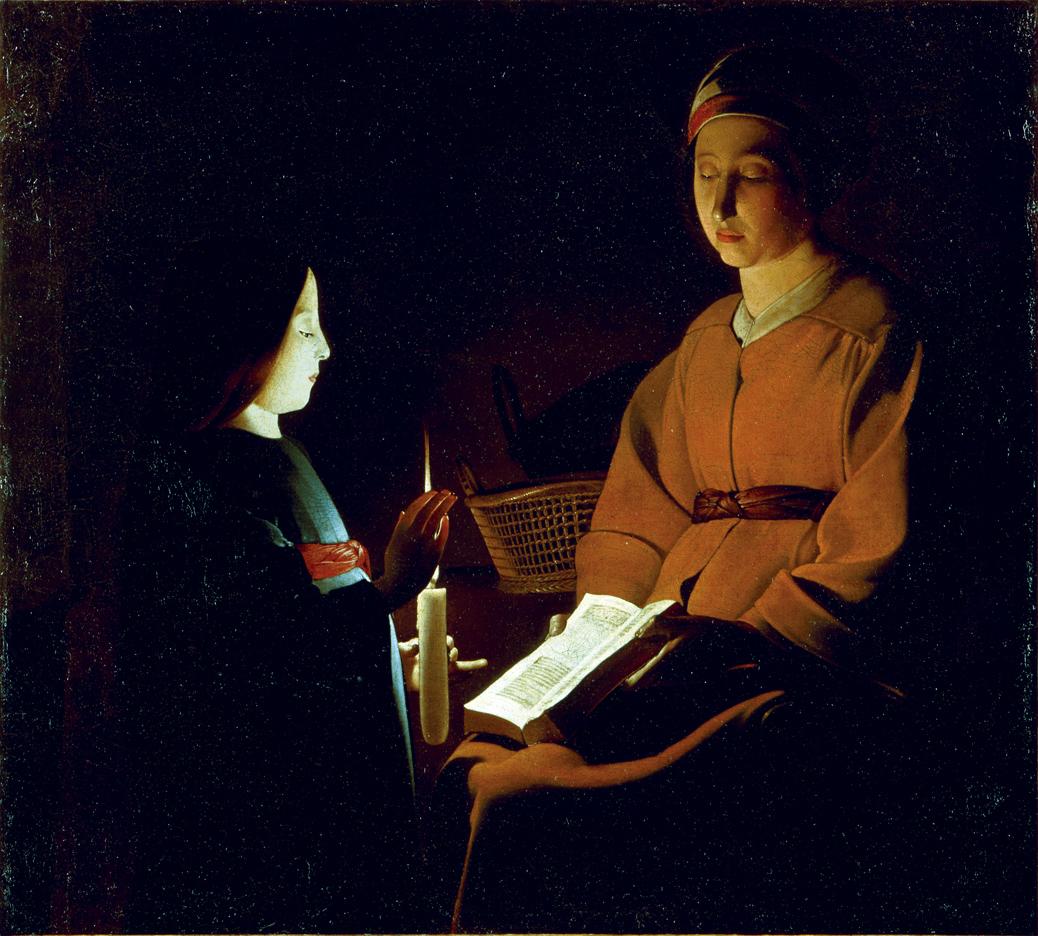 The Education of the Virgin, by Georges de La Tour, c. 1650. Louvre Museum, Paris, France.