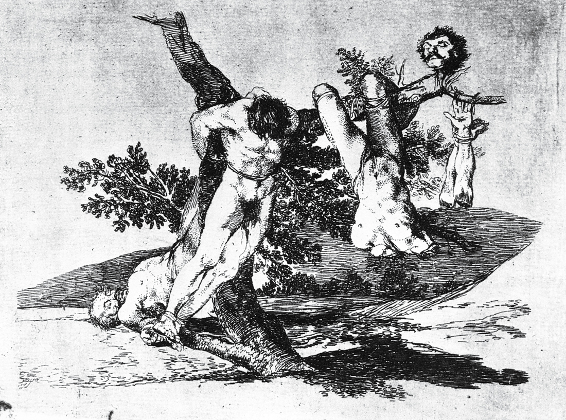 Heroic Feat! Against the Dead!, from The Disasters of War, by Francisco de Goya y Lucientes, 1814. Prado Museum, Madrid.
