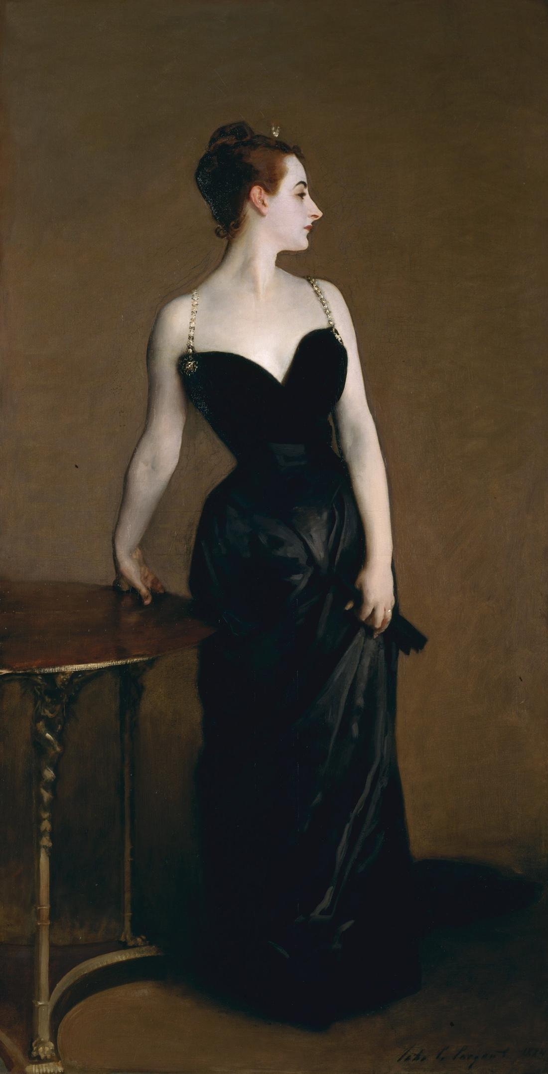 Madame X, by John Singer Sargent, 1884. The Metropolitan Museum of Art, Arthur Hoppock Hearn Fund, 1916, New York.