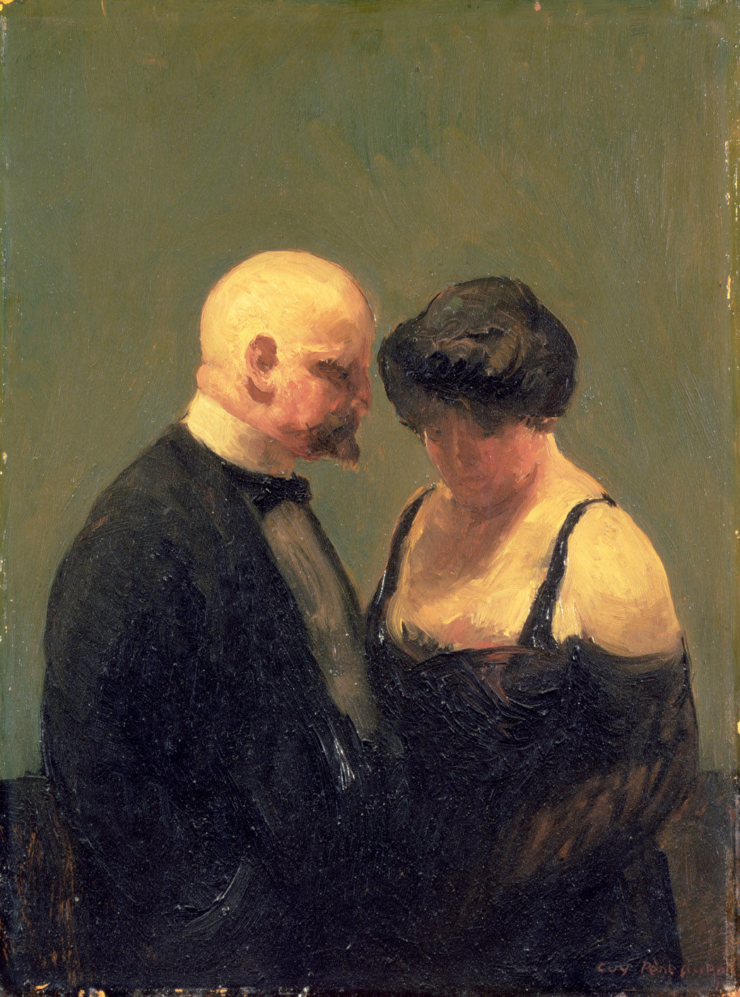 The Confidence Man, by Guy Pène du Bois, 1919. Brooklyn Museum of Art, New York.