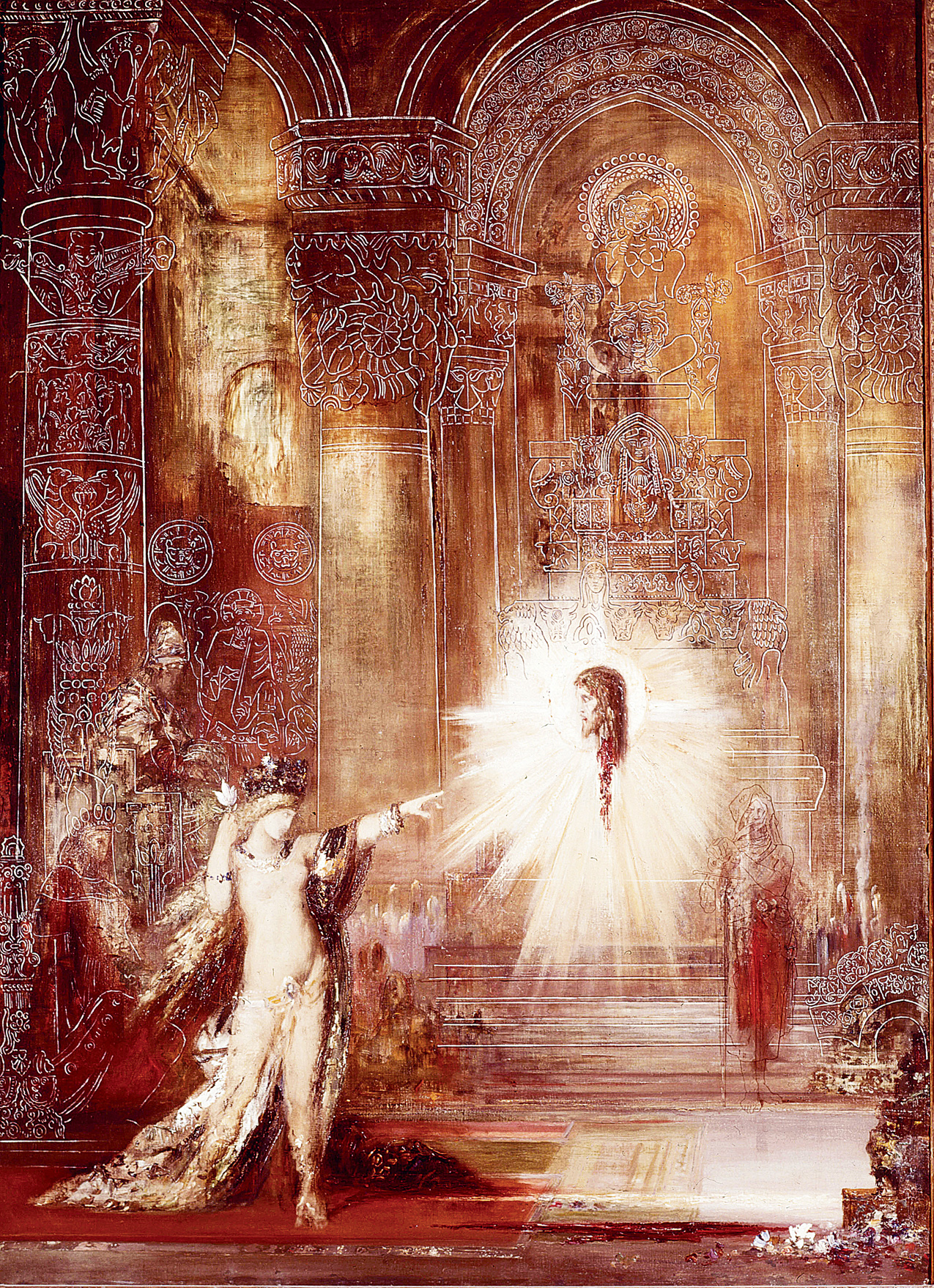 The Apparition, by Gustave Moreau, 1876. Musée Gustave Moreau, Paris, France.