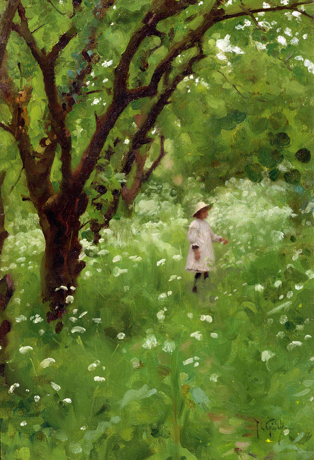 The Orchard, by Thomas Cooper Gotch, 1887.