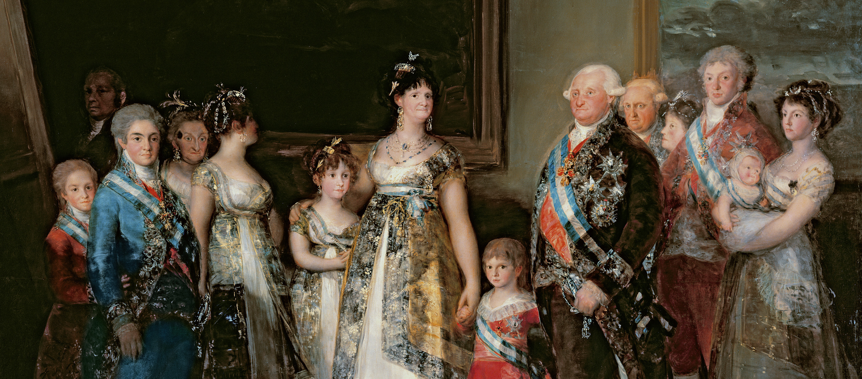 Charles IV and His Family, by Francisco José de Goya y Lucientes, 1800. Prado Museum, Madrid.