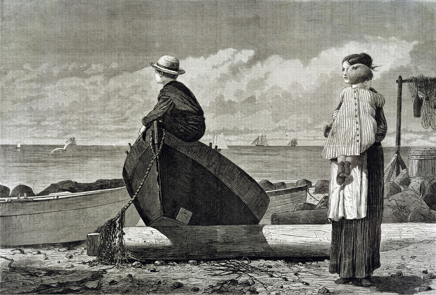 Dad's Coming, by Winslow Homer, 1873. Boston Public Library, Print Department, Massachusetts.