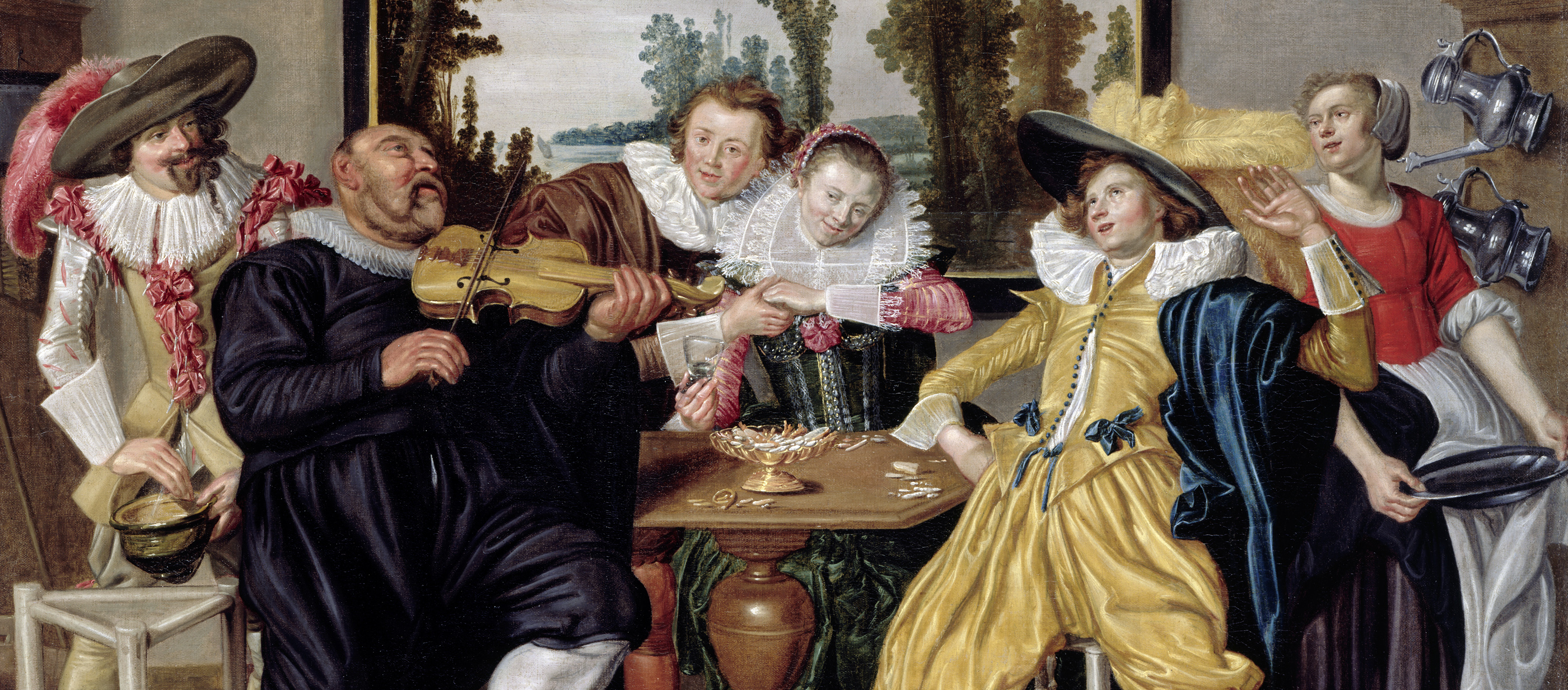 Interior with Merry Company, by Willem Pietersz Buytewech, c. 1623.