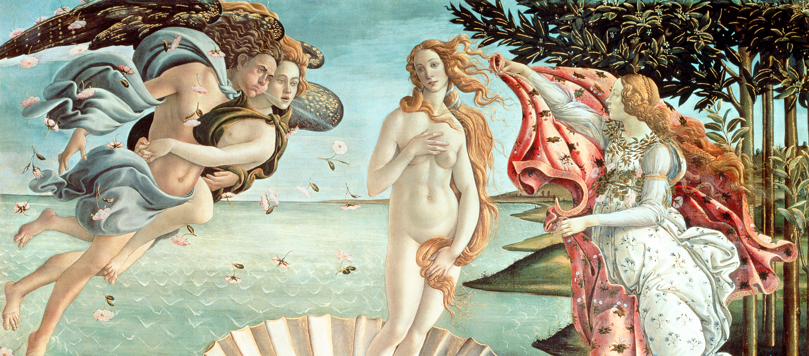 The Birth of Venus, by Sandro Botticelli, c. 1485. Uffizi Gallery, Florence.