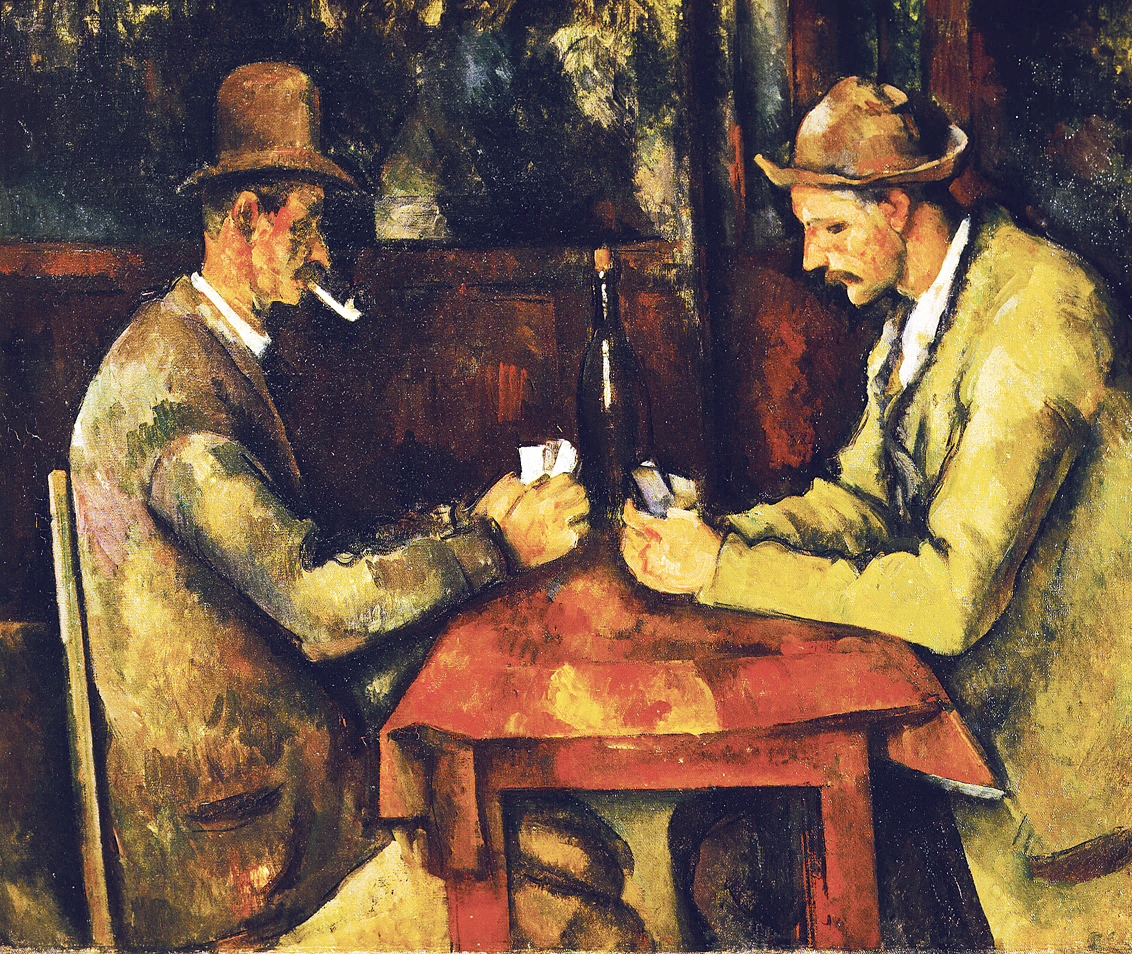 Card Players, by Paul Cézanne, c. 1893. Musée d'Orsay, Paris.