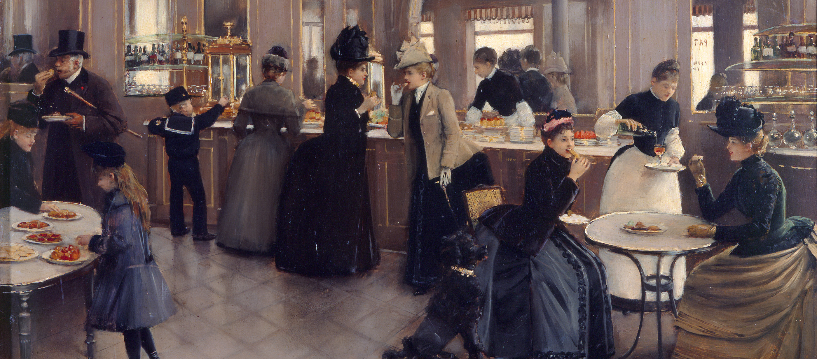 The Patisserie Gloppe, by Jean Beraud, 1889. Musée Carnavalet, Paris.