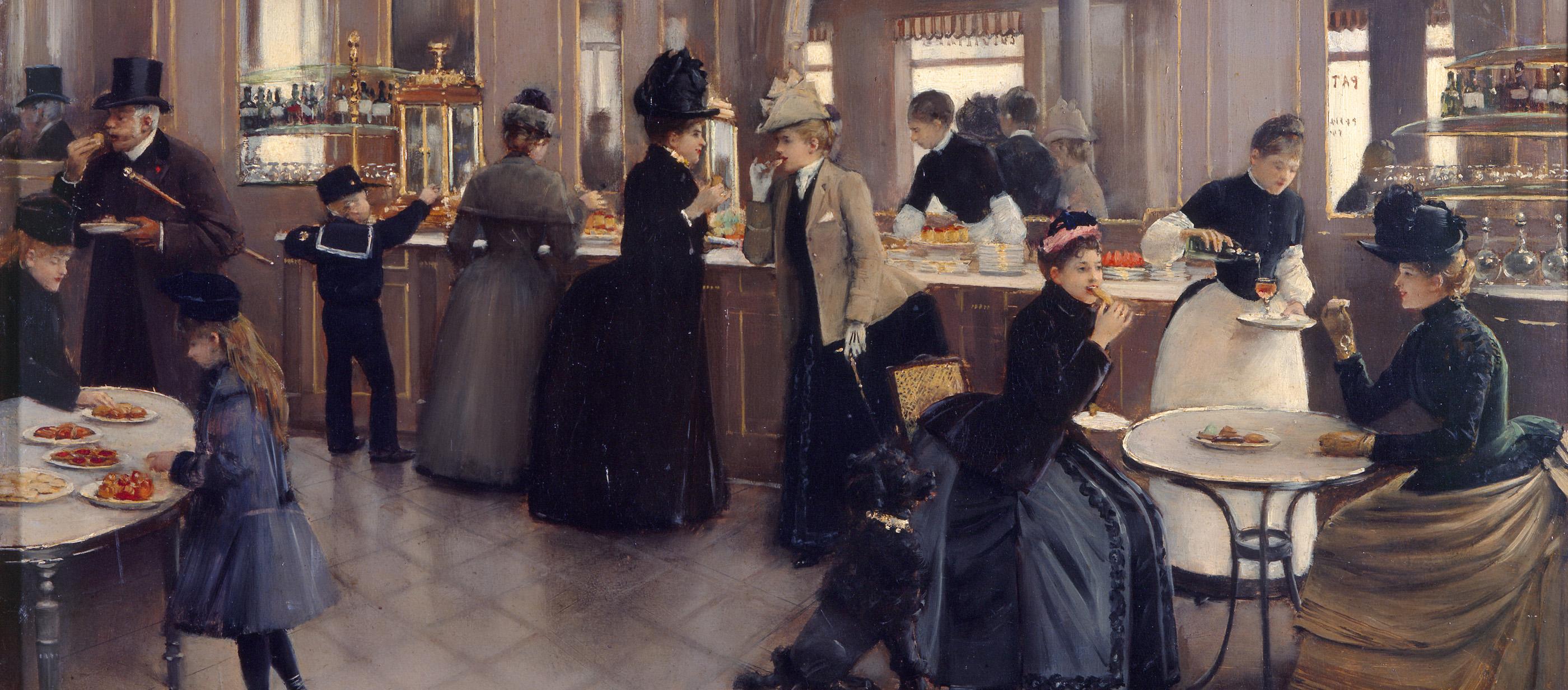 The Patisserie Gloppe, by Jean Beraud, 1889. Musée Carnavalet, Paris.