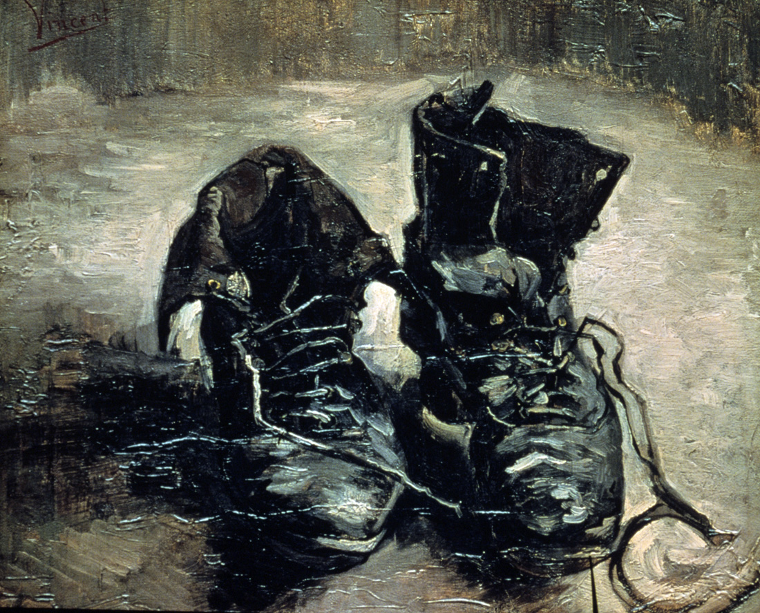 A Pair of Shoes, by Vincent van Gogh, 1886. Van Gogh Museum, Amsterdam.