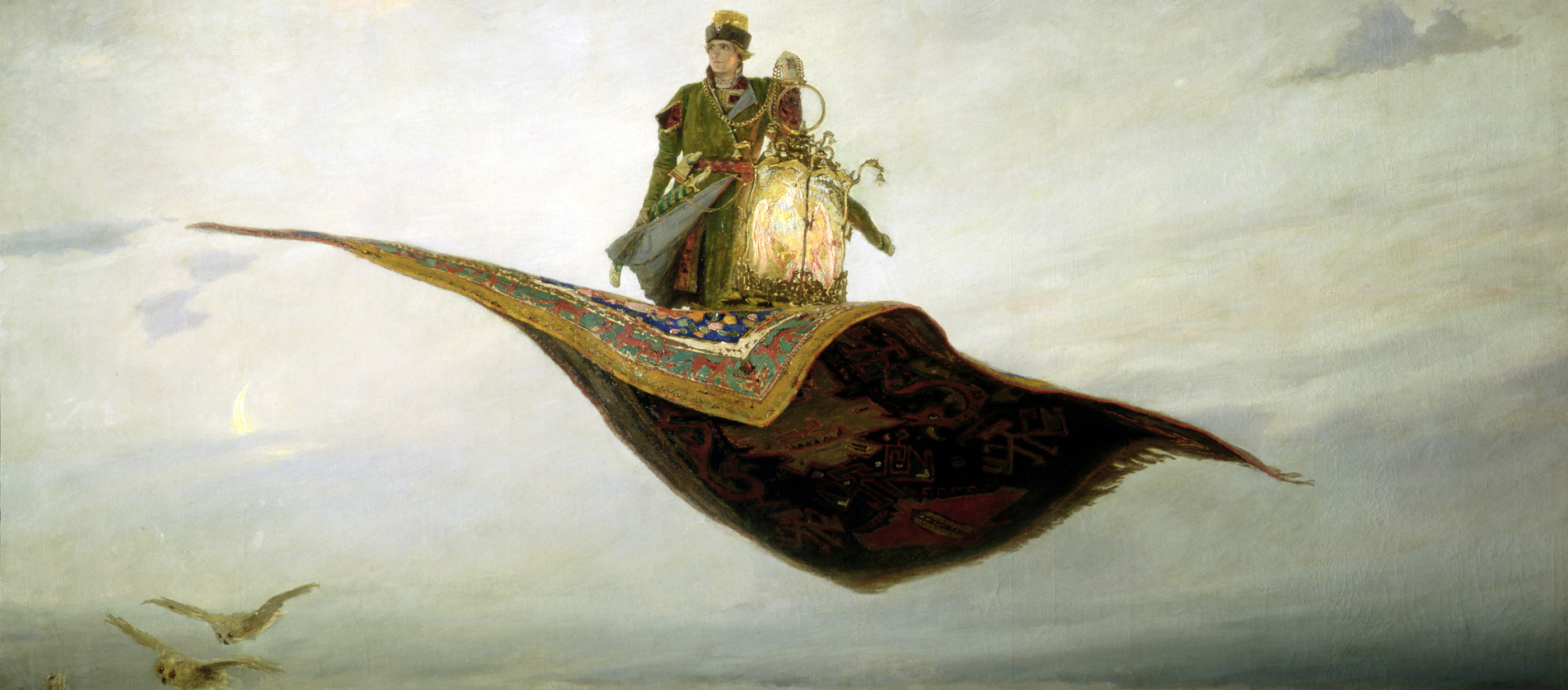 The Magic Carpet, by Viktor Vasnetsov, 1880.