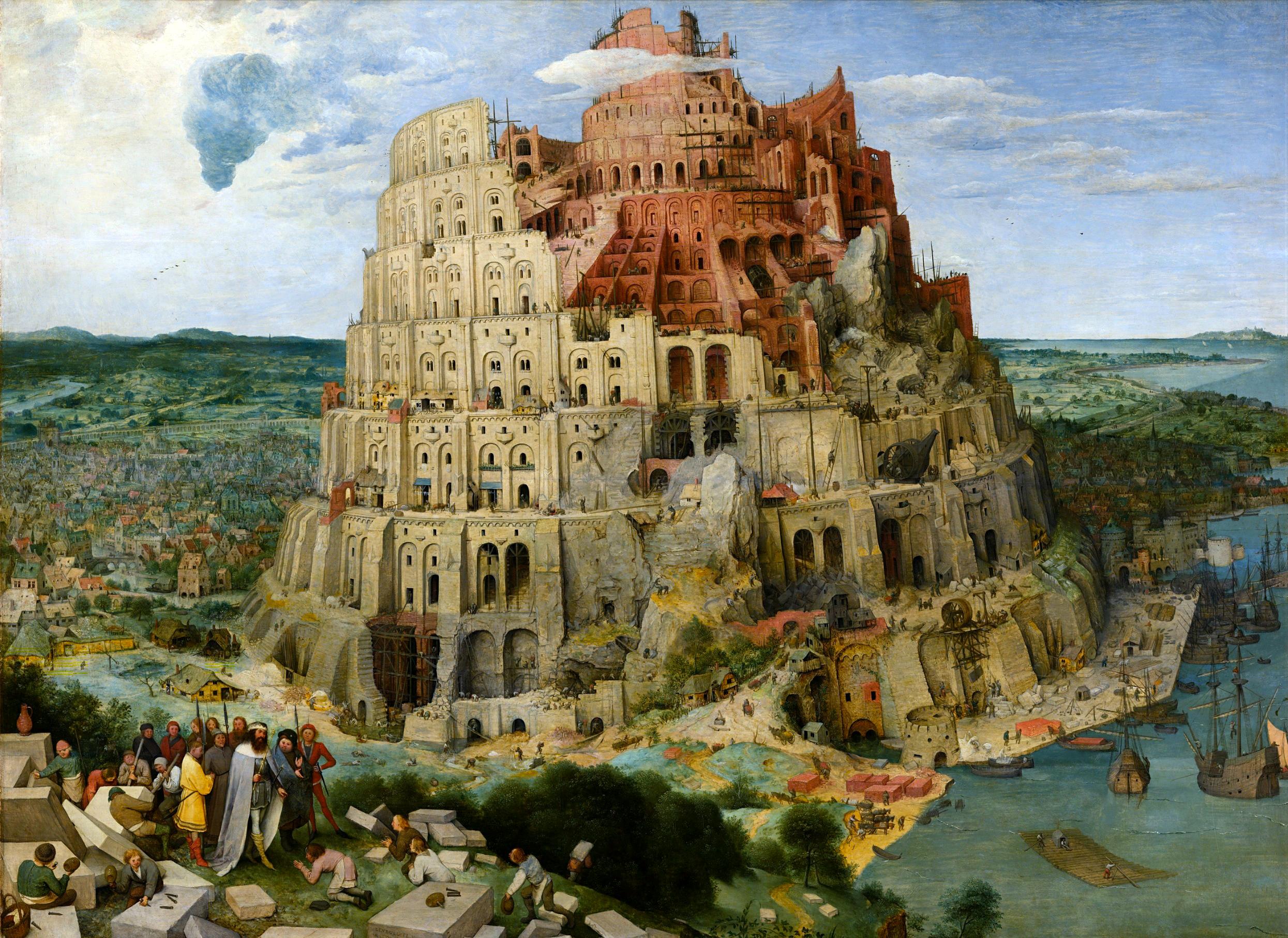 The Tower of Babel, by Pieter Bruegel the Elder, 1563. Kunsthistorisches Museum, Vienna, Austria.