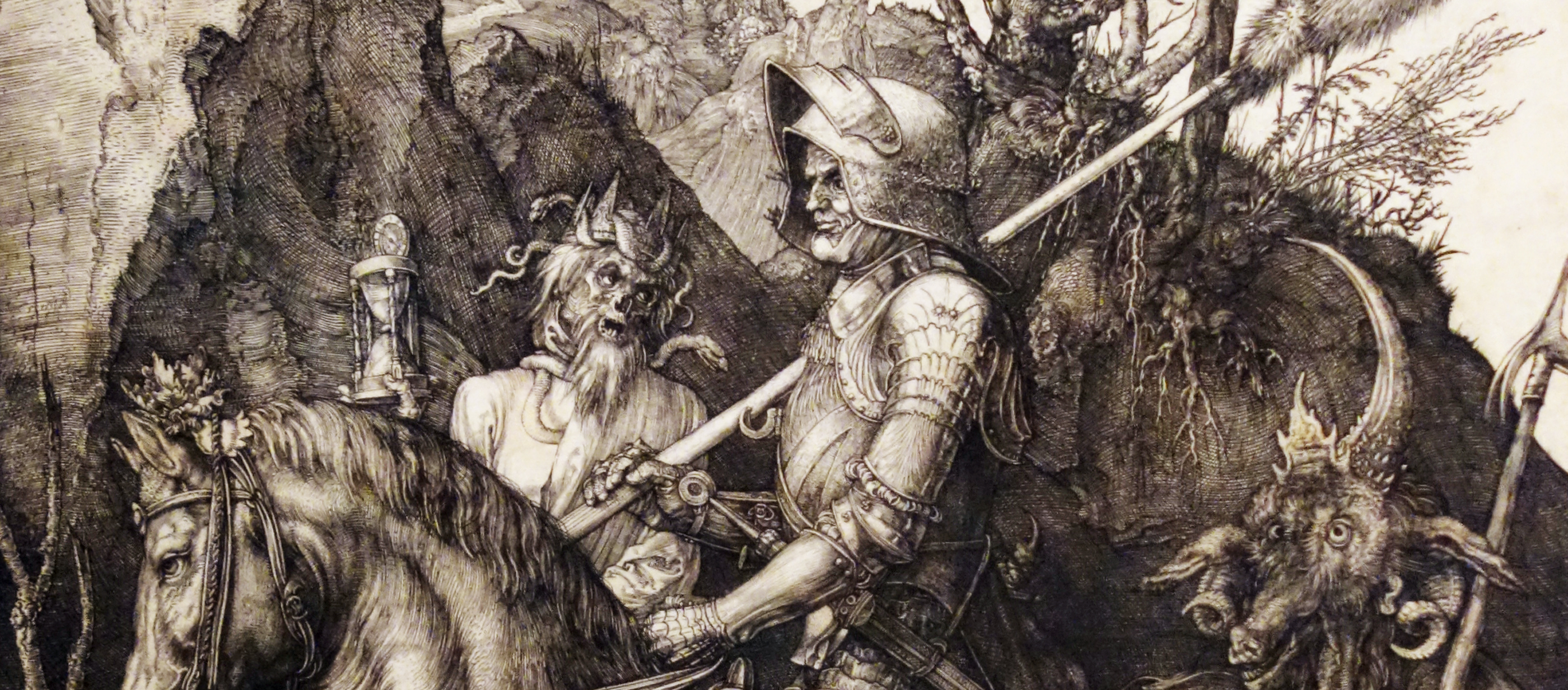 The Knight, Death, and the Devil, by Albrecht Dürer, 1513.