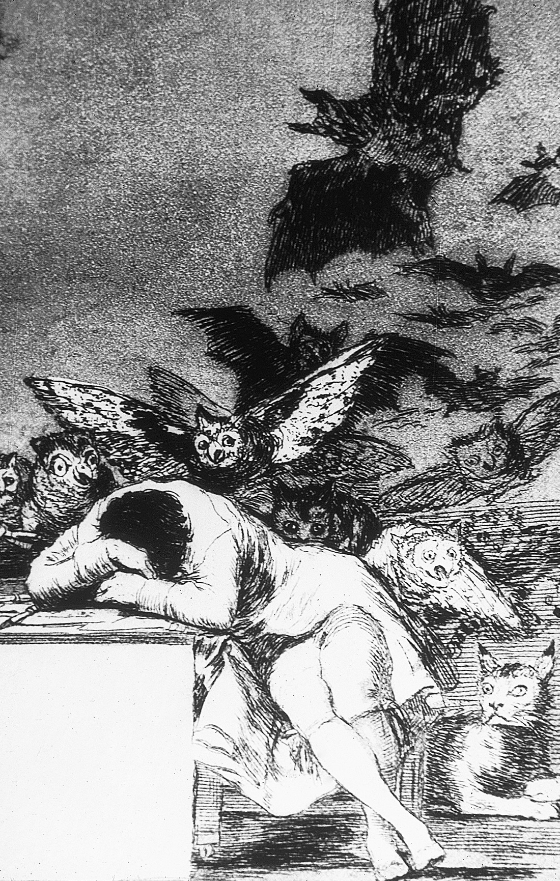 The Sleep of Reason Produces Monsters, by Francisco de Goya y Lucientes, c. 1797.