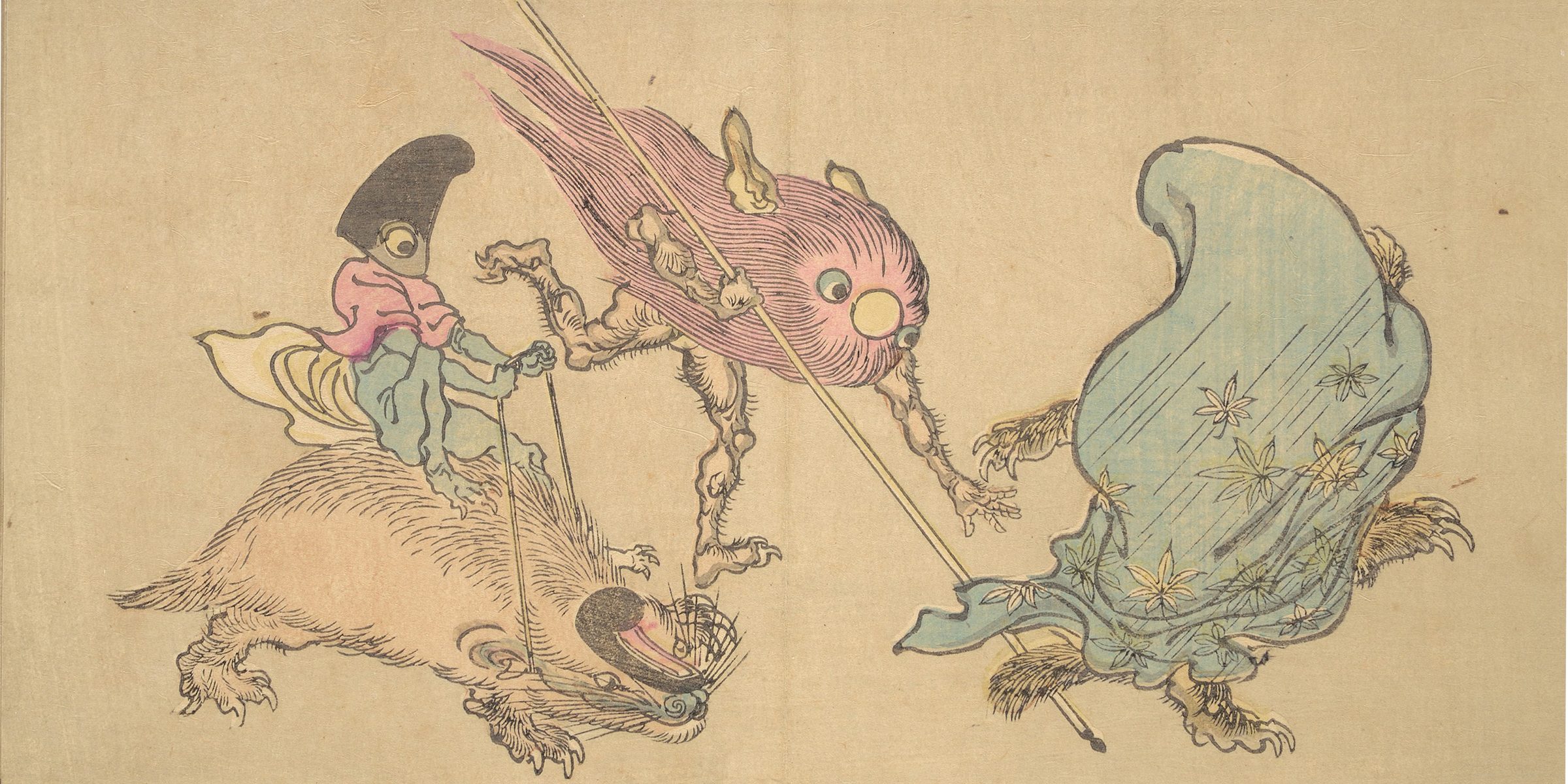 Illustration from an 1890 edition of Kyosai's Pictures of One Hundred Demons, by Kawanabe Kyosai. © The Metropolitan Museum of Art, Purchase, Mary and James G. Wallach Foundation Gift, 2013.